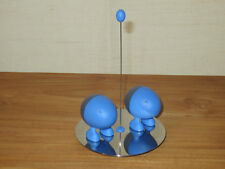 ALESSI *NEW* Set sel et poivre résine bleue, base inox brillant ASG02AZ