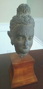Ancient Gandara Figural Schist Bust - PAKISTAN - Circa 3rd to 4th Century AD