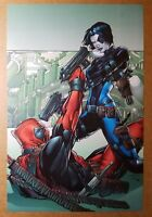 Deadpool Domino Marvel Comics Poster by Patrick Zircher