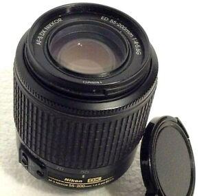 Nikon AF-S DX SWM Nikkor 55-200mm f/4-5.6G ED Zoom Camera Lens. Fits Nikon AF