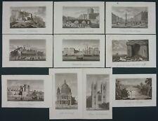 ORIGINAL XIX° ENGRAVING / GRAVURE PERROT 1823 - LOT DE 10 LANDSCAPE / PAYSAGES