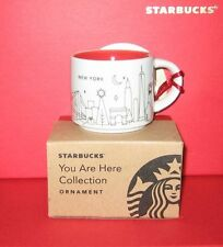 STARBUCKS 2014 CHRISTMAS *YOU ARE HERE NEW YORK* ORNAMENT TASTER CUP BRAND NEW!!