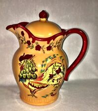 APRIL COMELL COVERED PITCHER ROOSTER DESIGN  #20389