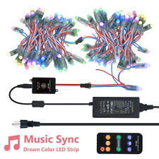 100pcs WS2811 LED Pixel RGB String Light Music Synic Controller 12V Power Kit