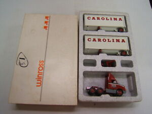 Winross Carolina Freight International Red 8300 Tractor w/ Doubles & Dolly MIB