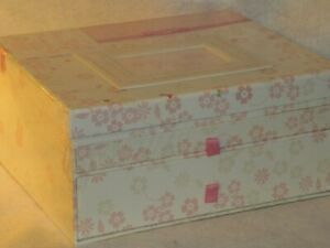 """CR Gibson Baby Girl's """"China Doll"""" Flowered Keepsake Chest or Box w/ Drawers"""