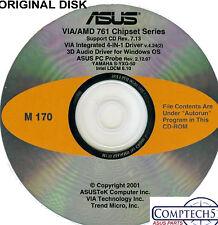 ASUS GENUINE VINTAGE ORIGINAL DISK FOR A7M266 Motherboard Drivers Disk M170