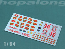 Scalextric/Slot Car/Diecast 1/64 Waterslide Decals w/white. sf007w