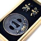 AA746 Japanese Samurai Edo Antique Uma zu fuchi kasira & menuki set.