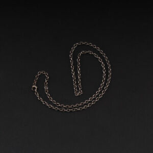 Georg Jensen Sterling Chain, Anchor A60, 45 cm, Oxidized Silver. 3532589. NEW!