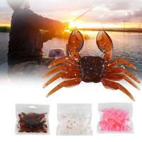 10pcs Artificial Plastic Soft Crab Lures 3D Simulation Freshwater Fishing Baits