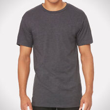 Bella Canvas Men's Long Body Urban Casual T Shirt S Dark Grey Heather