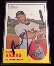 ROBERT ANDINO 2010 TOPPS HERITAGE Autographed Signed AUTO Baseball Card 205 BALT