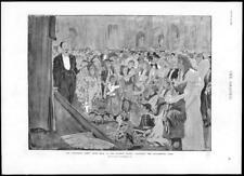 1894 Antique Print LONDON MANSION HOUSE CHILDREN'S FANCY DRESS MARIONETTE (117)