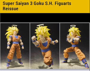 S.H. Figuarts Dragon Ball Z Super Saiyan 3 Son Goku Reissue US SELLER (PREORDER)