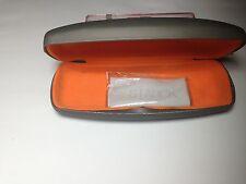 NEW Starck Eyes Mikli Eyeglasses Grey / Orange Case with Microfiber Cloth