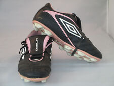 #18 Umbro Soccer Football shoes cleats Black pink white Youth Us 4 Uk 3.5 Youth