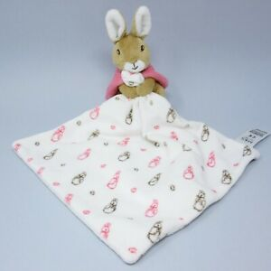 Marks Spencer pink Flopsy bunny baby toy comforter soother blankie Peter Rabbit