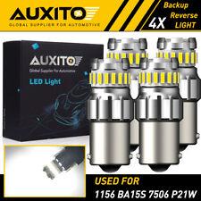 4x Auxito 1156 Led Reverse Light Ba15s Backup Bulb 6500k White Parking Drl Lamp