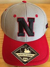 *NEW* Nebraska Cornhuskers Football - Cap Grey/Black Fitted Flex Fit XS/S Hat