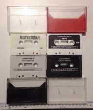 4x Vintage Commodore 64 C64 Video Game Cassette Joblot MASTERTRONIC Retro Bundle