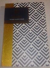 Dabney Lee Hardbound Journal - Black / White Stripe - 120 Page - Elastic Closure