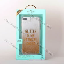 Kate Spade iPhone 7 & 8 Plus Hard Liquid Case Glitter Is My Favorite Color Gold