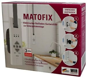 Matofix elektrischer Rollladen-Gurtwickler Unterputzmontage f.Standardgurtkasten