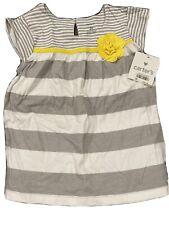 Carters Grey Stripe Flutter Top Nwt Toddler Girl 3T