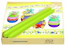 Set decorazione tavola di Pasqua Uova Adorabile verde 20 Tovaglioli di carta 2 CANDELE