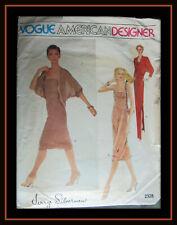 GOWN Dress JACKET by JERRY SILVERMAN Vtg 80s Miss Sz 16 Vogue 2328 Sew Pattern