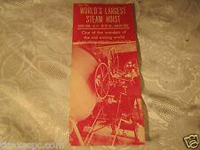 World's largest Steam Hoist Hancock Mich Mining Paper Travel Pamphlet Vintage