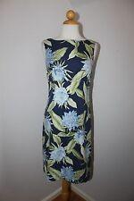 TOMMY BAHAMA NWT Blue Floral Silk Sleeveless Shealth Cocktail Dress 2  XS $132