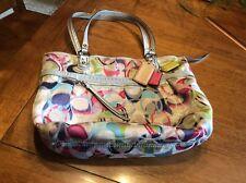 Pre-Owned Coach Poppy IKAT Signature Glam Multi-Color Handbag