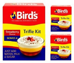 BIRDS STRAWBERRY FLAVOUR TRIFLE MIX 141G SINGLE & MULTIBUY TRIFLE KIT