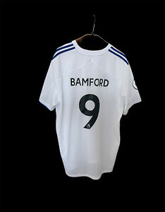 LEEDS UNITED HOME FOOTBALL SHIRT 20/21 XXL White Patrick Bamford #9 Genuine