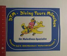 Aufkleber/Sticker: Dtm Diving Tours München Malediven Spezialist (251116127)