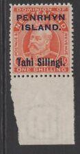 PENRHYN ISLAND SG23 1914 1/- VERMILION MNH