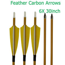 Feather Carbon Arrows Sp500 Wood Camo Shaft 100gr Field Point Archery Hunting 6X