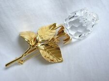 SWAROVSKI CRYSTAL MEMORIES COLLECTION  ROSE BROOCH PIN