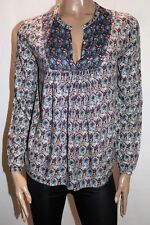 pimkie Brand Multi Colour Long Sleeve Blouse Top Size S LIKE NEW #AN02