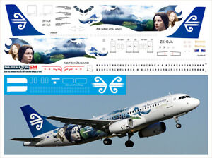 1/144 PAS-DECALS ZVEZDA REVELL  Airbus A 320  Air New Zealand Lord of the Rings