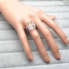 EMERALD CUT 10×14MM SOLID 14K WHITE GOLD NATURAL DIAMOND SEMI MOUNT SETTING RING