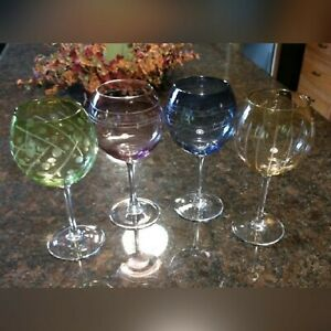 Mikasa-'Cheers' Pastel Balloon Wine Glass Set
