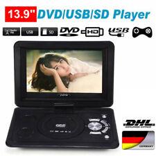 "13.9"" Tragbarer DVD-Player Game Video LCD Bildschirm MP3/MMC/USB/SD 270° Drehbar"