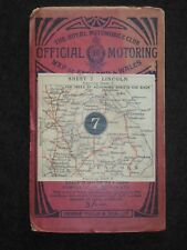 Official Motoring Map of England & Wales; Lincoln (1913) Royal Automobile Club