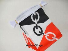 BLACK COUNTRY BUNTING 9m 30 Fabric Party Flags West Midlands English County