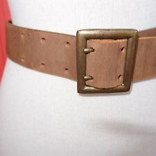 British made brown leather belt - McRostie Glasgow Scotland small size 25 - 29""