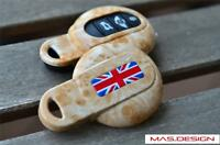 Yellow Marble Union Jack style  key case for MINI COOPER S JCW F54 F56 F55