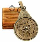 Astrolabe English Arabic Calendar Globe Navigation with Wooden Stand